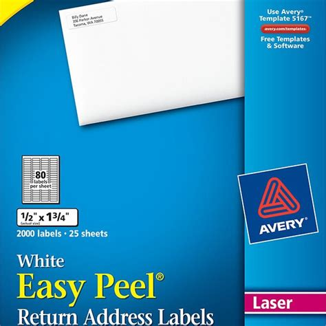 avery 5267 label template avery 174 easy peel 174 white return address labels 5267 avery