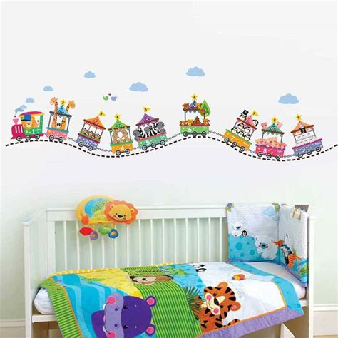 Train Wall Mural muursticker babykamer dieren lactate info for
