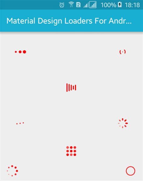 android ui pattern source code material design loader exles for android with source