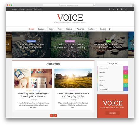 30 Amazing Magazine Wordpress Themes 2018 Colorlib Website Magazine Template