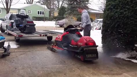 A Place Trailer 1 Loading 2 Yamaha Snowmobiles And 1 Arctic Cat On A 2 Place Trailer By Yourself