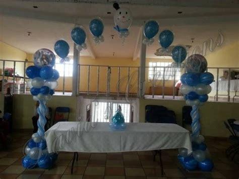 arreglos con globos de frozen decoracion de tema frozen decoraciones con globos