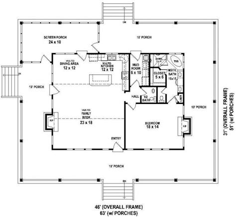 2 bedroom house plans with wrap around porch lovely