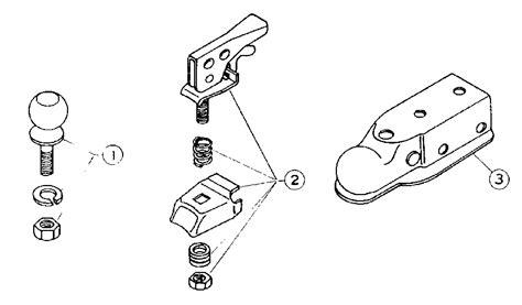 trailer coupler parts diagram craftsman sears trailer hitch parts model 417626260