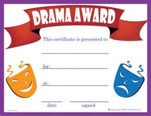 Free Drama Certificates, Certificate Free Drama