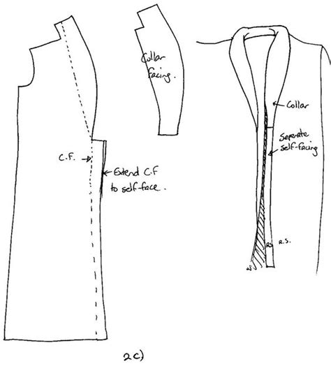 pattern drafting of collars drafting a rolled collar pattern collars pinterest