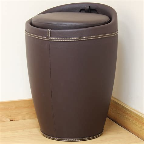 chair with hidden ottoman brown faux leather wizard ottoman hidden storage barrel