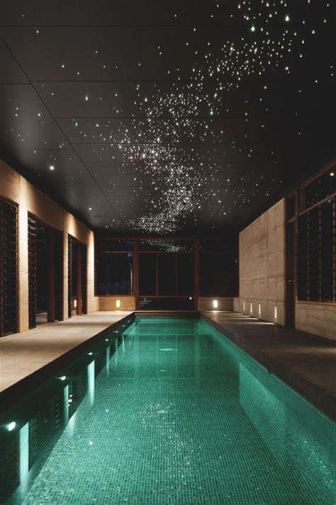 indoor pool  star lighting ideas homemydesign