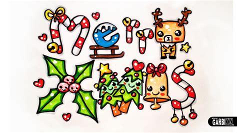 merry christmas letra imagenes dibujando tutoriales feliz navidad c 243 mo dibujar letras