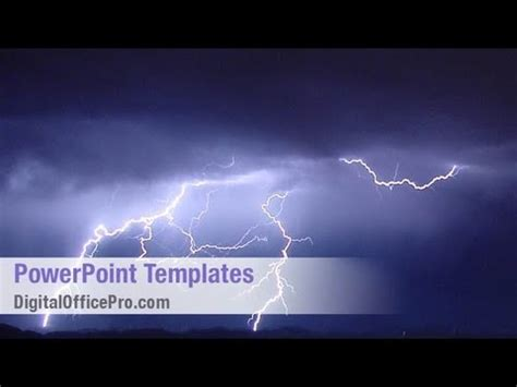thunder storm powerpoint template backgrounds