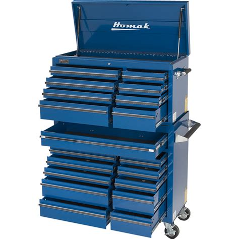 homak pro series 41in 8 drawer top tool chest blue 41in w x 17 3 4in d x 21 1 2in h model