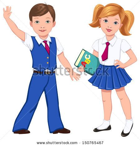 Clear St Boygirl boy book blue school stock vector 150765467