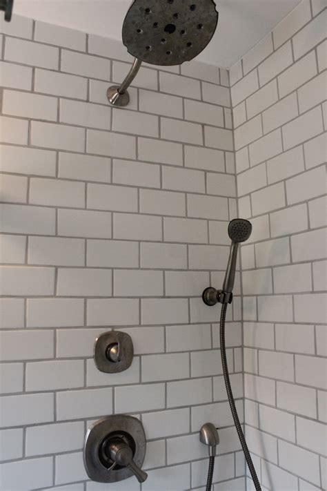 white subway tile shower white subway tile shower 12 oaks
