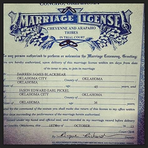 State Of Oklahoma Marriage Records American Tribes Challenge Oklahoma Marriage Ban Al Jazeera America