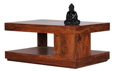 wohnling sheesham solid wood coffee side table living room