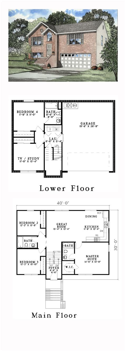 side split house plans 17 perfect images side split house plans new on trend