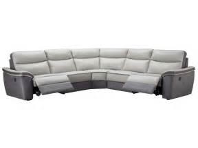 canap 233 d angle relaxation 233 lectrique 5 places en cuir