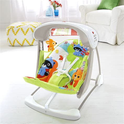 fisher price 2 way swing woodland friends take along swing seat
