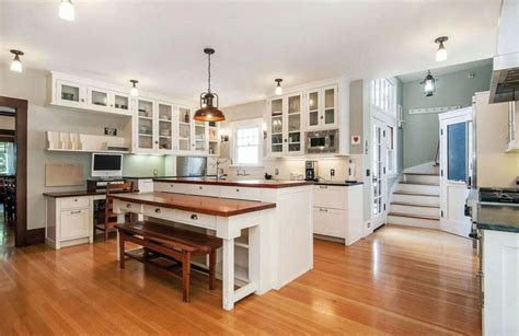 white kitchen island with seating beautiful kitchen islands with bench seating designing idea