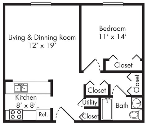 large 1 bedroom apartment floor plans beautiful popular one bedroom apartment floor plans for
