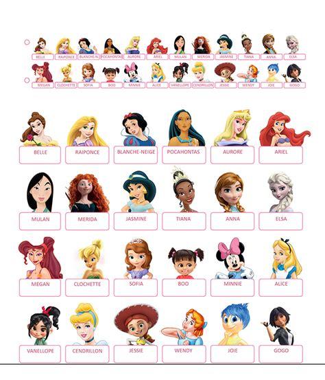 disney princesses les 2013237219 qui est ce 224 imprimer princesses disney et jeux vid 233 os guess who printables les