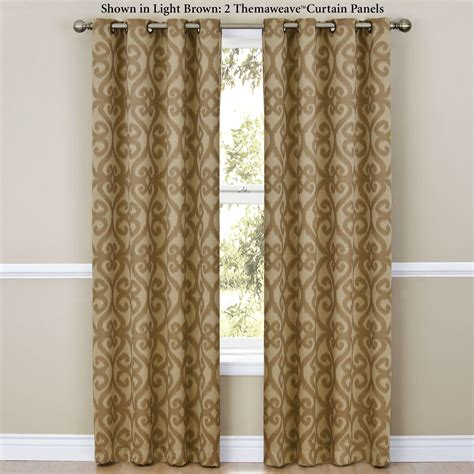 thermaweave curtains patricia thermaweave room darkening grommet curtain panels