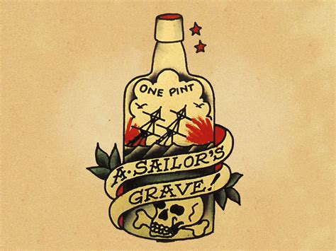 tattoo liquor sail sailor jerry