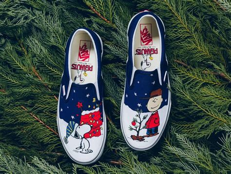 Sepatu Vans Slip On Snoopy vans slip on peanuts brown tree sneaker bar detroit