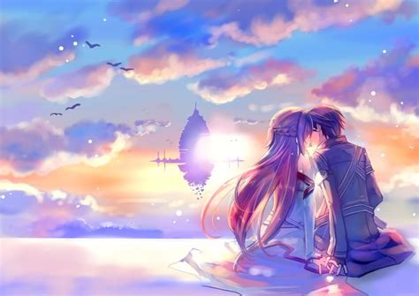 anime couple at sunset anime couples in the sunset www pixshark com images