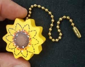 fan pull sunflower ceiling fan pull chain by famousfanpulls