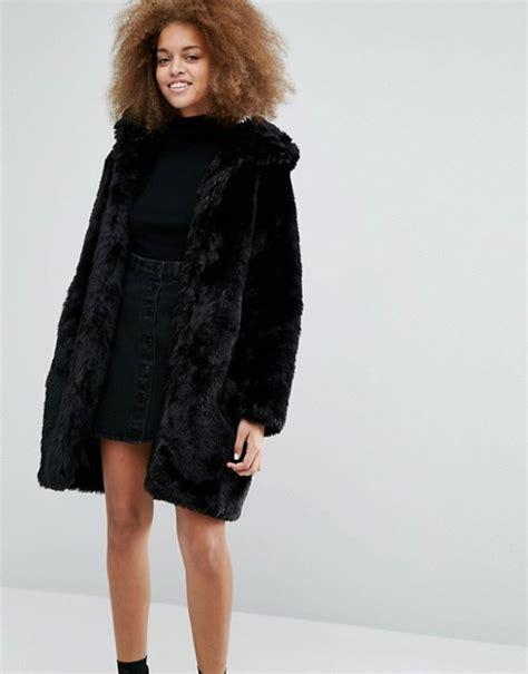 Faux Fur Hooded Coat monki monki faux fur hooded coat
