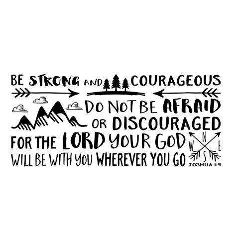 be strong and courageous joshua 1 9 navy christian joshua 1v9 vinyl wall decal 15 be strong and courageous do