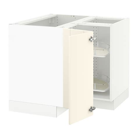 sektion corner base cabinet with carousel white