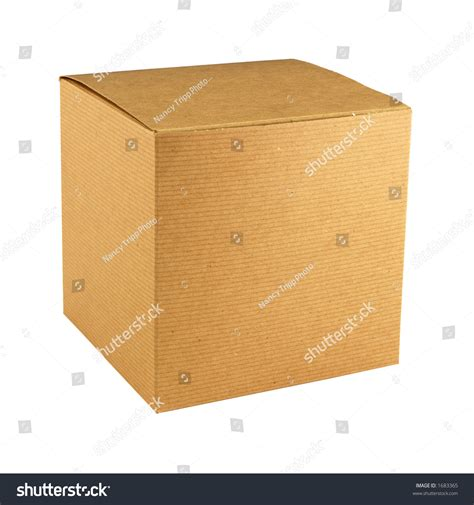 square cardboard box stock images image 29889354 square corrugated brown cardboard gift box with lid closed