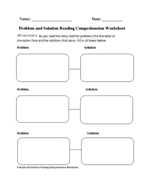 problem and solution reading worksheets englishlinx com reading comprehension worksheets