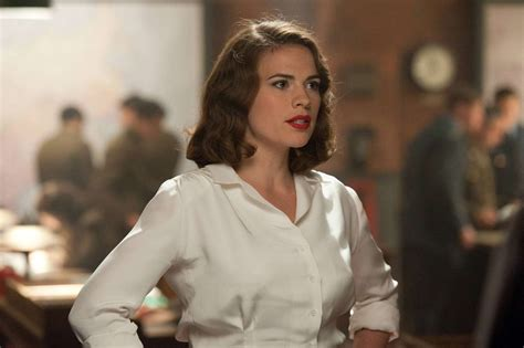 Amerika Blouse marvel s hayley atwell leaves the