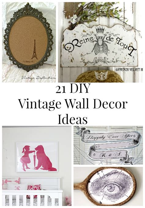 diy vintage home decor 21 diy vintage wall decor ideas the graphics fairy