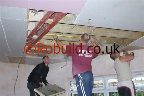 Fixing Plasterboard To Ceiling Joists by Plasterboarding Ceilings Builders