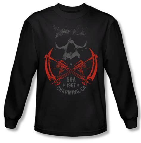 T Shirt Sons Of Anarchy 2 sons of anarchy shirt cross guns sleeve black t