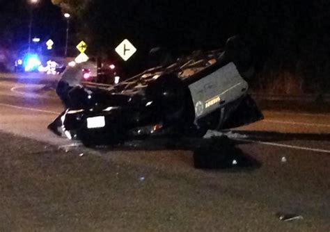 Sigalert Pch Malibu - patrol car flips over in malibu 2 deputies airlifted to