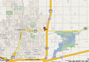 where is edmond oklahoma on the map map of inn express hotel and suites edmond edmond