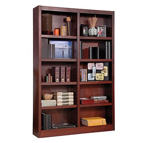 concepts in wood wide bookcase 10 shelves cherry by