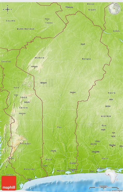 benin physical map physical 3d map of benin