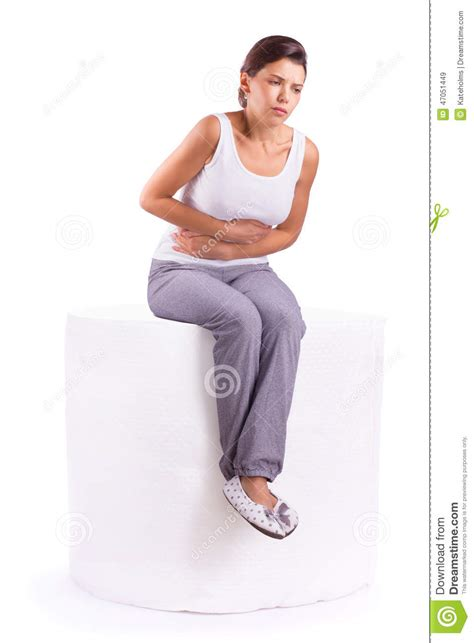 stomach pain when using bathroom stomach ache pain stock photo image 47051449
