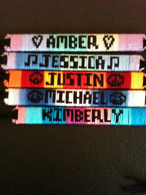 name bracelets custom made friendship bracelets