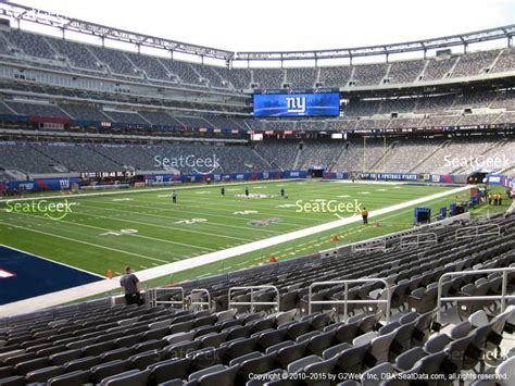 giants stadium sections metlife stadium section 123 seat views seatgeek