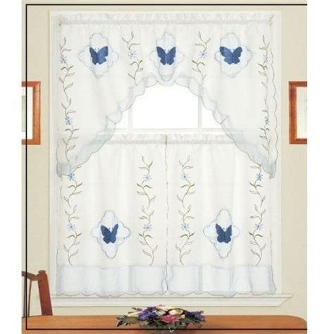 blue kitchen curtain sets 17 best images about country kitchen curtains on pinterest
