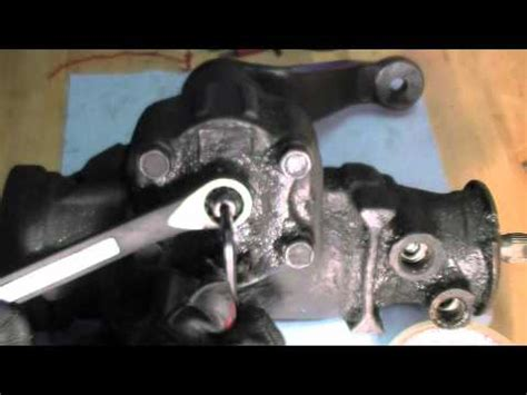 how to: adjust steering gear box play youtube