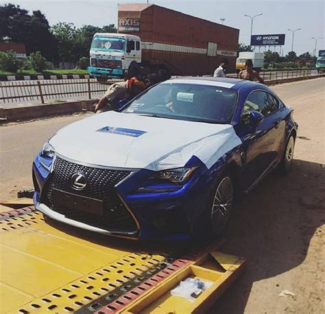 lexus india lexus rc f lands in india spied gaadiwaadi com