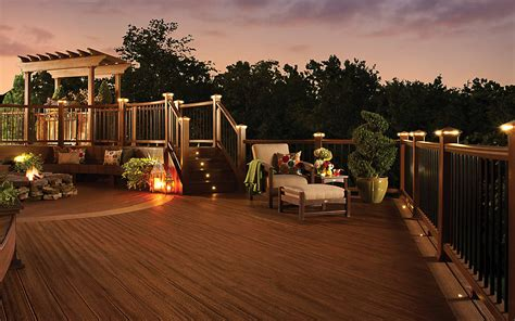 outdoor lighting on your new deck in metro detroit